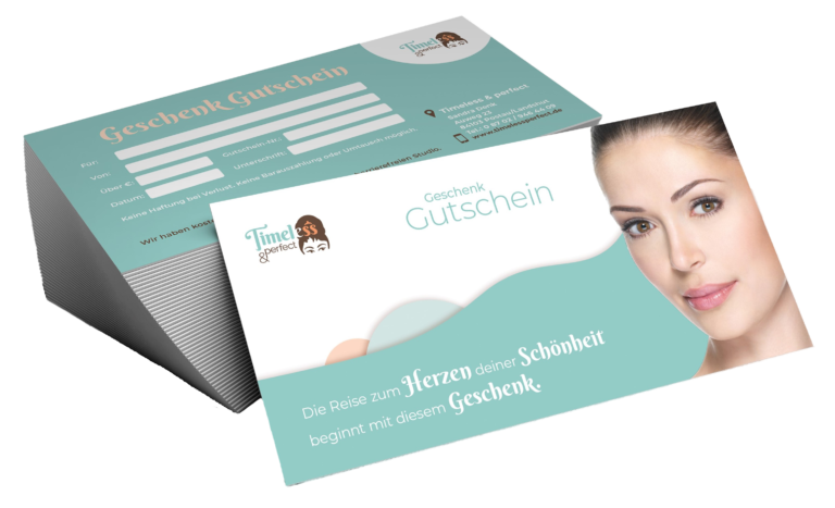 Gutschein, Permanent Make-Up, Landshut, timeless&perfect.de